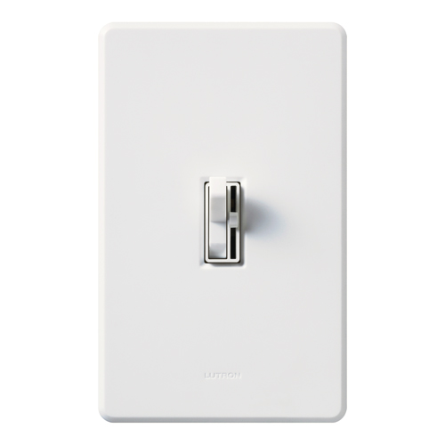LUT AY-10P-WH ARIADNI 1P 120V 1000W INCANDESCENT SWITCH TOGGLE STYLE DIMMER W/ PRESET WHITE WHT
