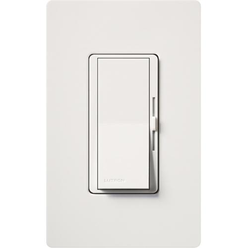 Lutron,DVCL-153P-WH,Diva C.L® DVCL-153P-WH Designer Dimmer Switch, 120 VAC, 1 Pole, 3-Way Mode, White