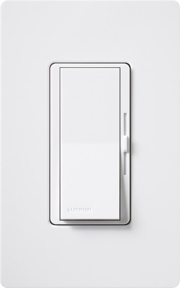 Lutron,DVSTV-WH,Lutron® DVSTV-WH 3-Way Dimmer, 120/277 VAC, 8 A, 1 Pole, White