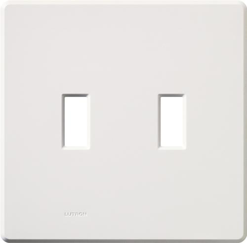 Lutron,FG-2-WH,Fassada® FG-2 Traditional Wallplate, 2 Gangs, 4.6 in H x 4.67 in W, Plastic, White