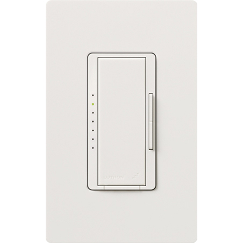 Lutron,MRF2-600M-WH,Maestro® Wireless® MRF2-600M-WH Multi-Location Digital Fade Dimmer With RF Receiver, 120 VAC, 1 Pole, White