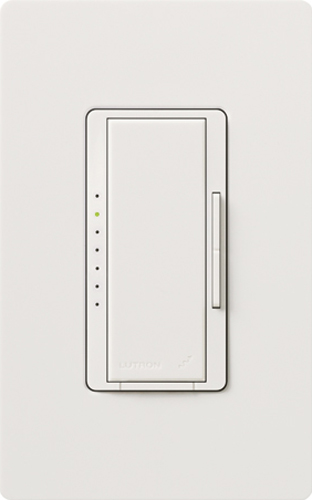 Lutron,MRF2-6MLV-WH,Maestro® Wireless® MRF2-6MLV-WH Low Voltage Magnetic Multi Location Digital Fade Dimmer With RF Receiver, 120 VAC