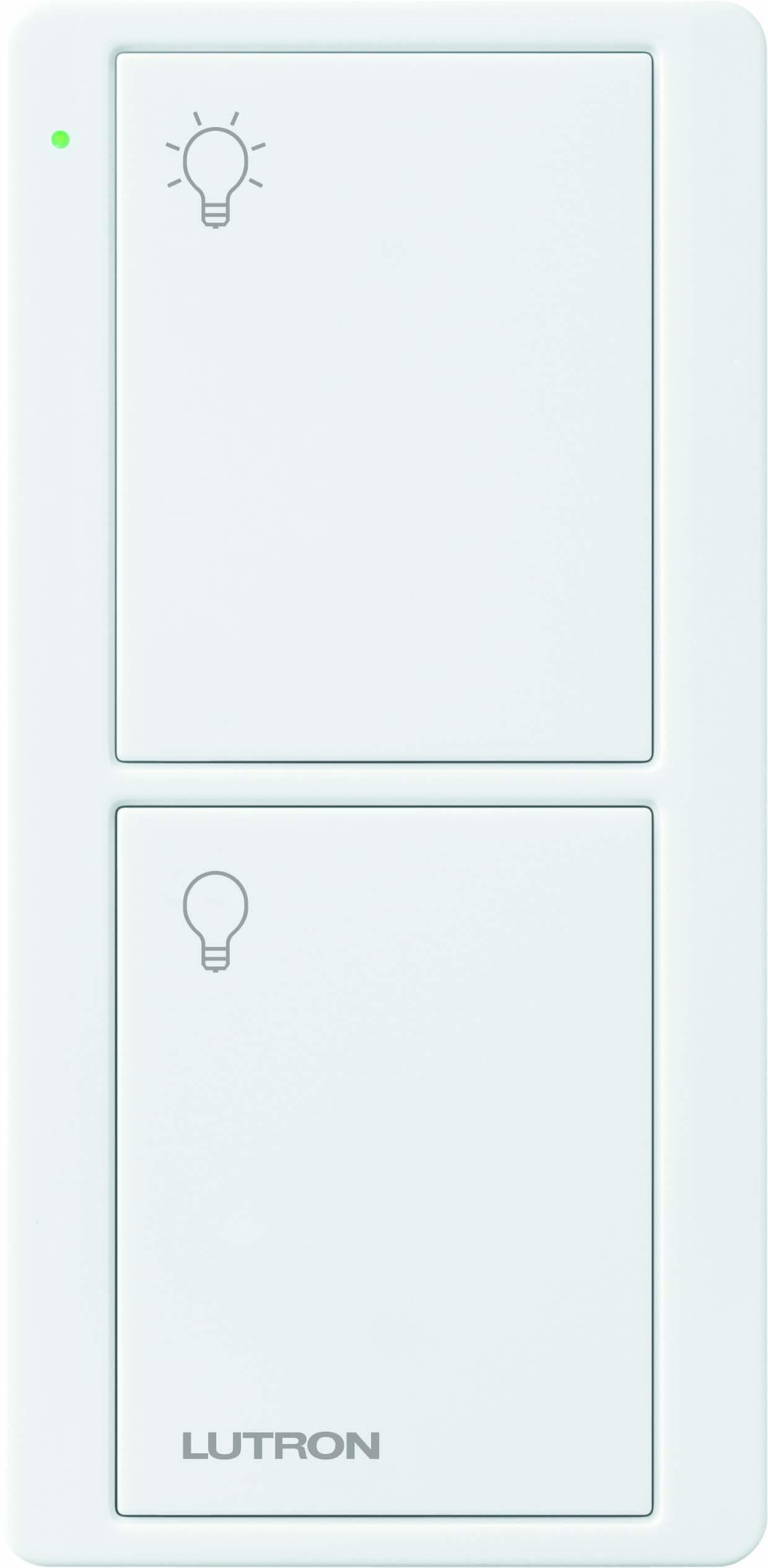 Lutron,PJ2-2B-GWH-L01,Pico® PJ2-2B-GWH-L01 Wireless Lighting Control Switch, 3 VDC, White