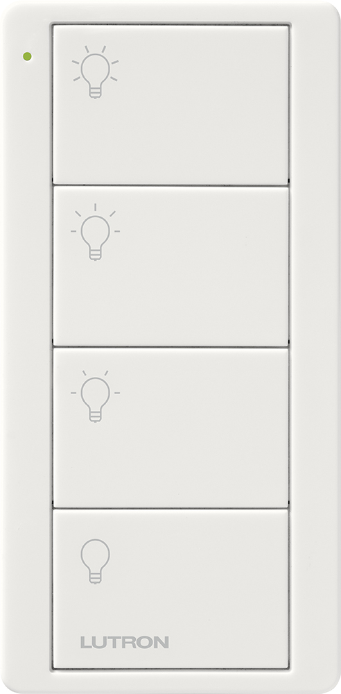 Lutron,PJ2-4B-GWH-L31,Pico® PJ2-4B-GWH-L31 Wireless Lighting Control Switch, 3 VDC, White