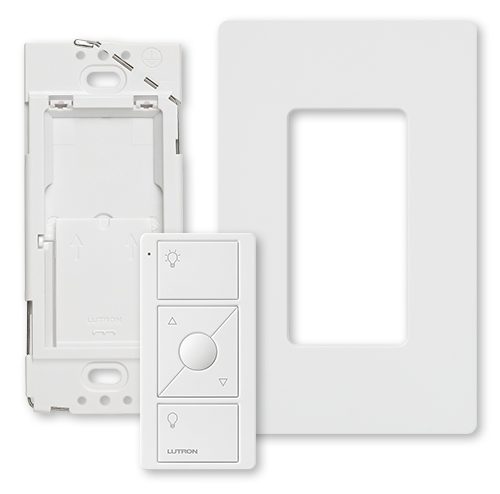 Lutron,PJ2-WALL-WH-L01,Pico® PJ2 Remote Control Kit, For Use With Wireless Load Control Devices, 3 VDC, White