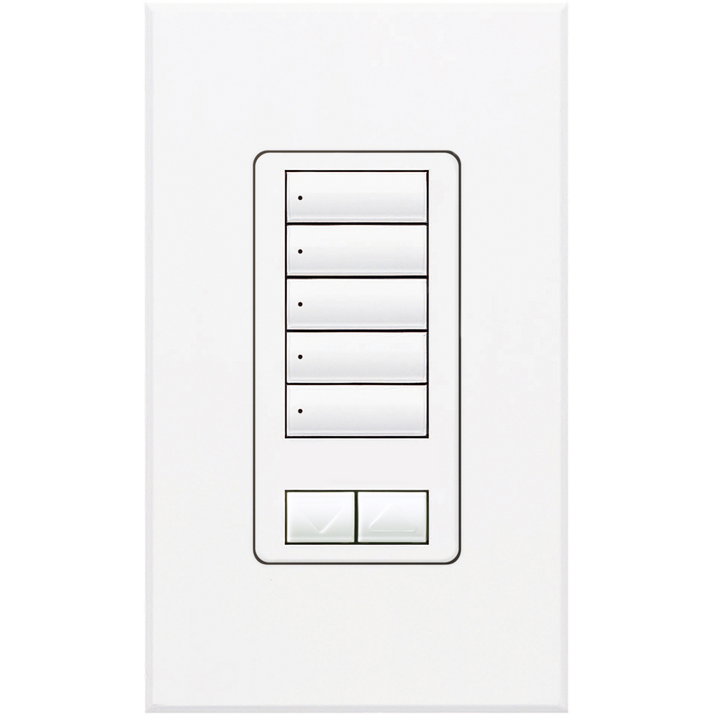 Lutron,QSWS2-5BRLI-WH,QSWS2 WALLSTN 5BRL INS WH
