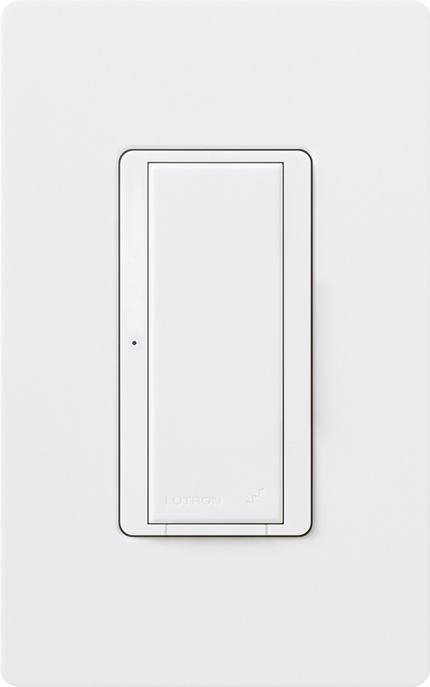 Lutron,RRD-8ANS-WH,RadioRA® Maestro® RRD-8ANS Electronic Multi-Location Dimmer Switch, 120 VAC, 8/5.8 A, 1 Pole, White