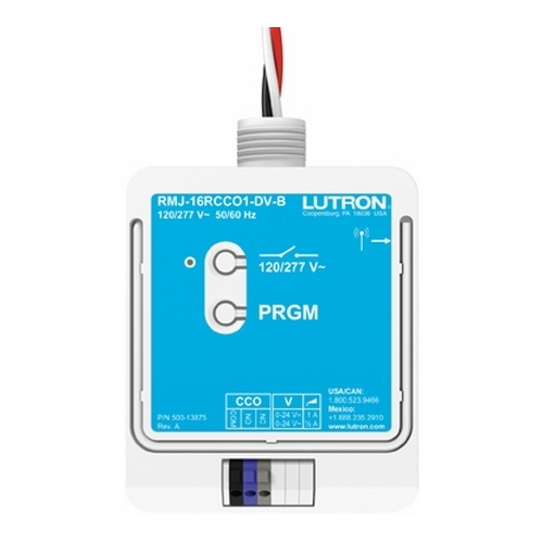 LUT RMJ-16RCCO1-DV-B RELAY MODULE W/ SOFTSWITCH 16 AMP GENERAL PURPOSE SWITCH (1) CONTACT CLOSURE OUTPUT, 120/277 VOLT