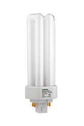 Sylvania 20886 32 W 82 CRI 4100 K 2400 lm GX24Q-3 Base 4-Pin Triple Dimmable Compact Fluorescent Lamp