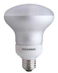 SYL CF16EL/BR30/827 16W BR30 COMP FLUOR LAMP - 750LUMENS - 2700K (EQUIV: 65BR30) 8K HRS 29566 CS=6