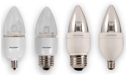 SYL LED6B13CBLUNTDIM827G2RP LED TORPEDO LAMP - CAND BASE - 350 LUMENS - 2700K - 15K HR RATED (EQUIV: 40W) CS=6 79629 DISCONTINUED BY FACT 2/18