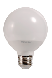 Sylvania,LED7.5G25/827/10YV/RP2/79697,LED G25, 7.5W 82CRI, 650 Lumen, 2700K, 11000 life