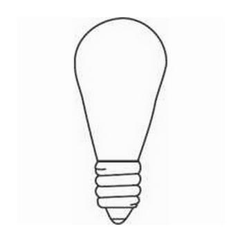 NAP 6S6 120/130V CLR S6 CAND LAMP CS=48 24835