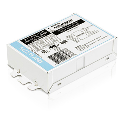 Philips Advance,913701213402,Xitanium 913701213402 Dimmable Electronic LED Driver, 120 to 277 VAC Input, 20 to 56 VDC Output, 39 W, 4.2 in L