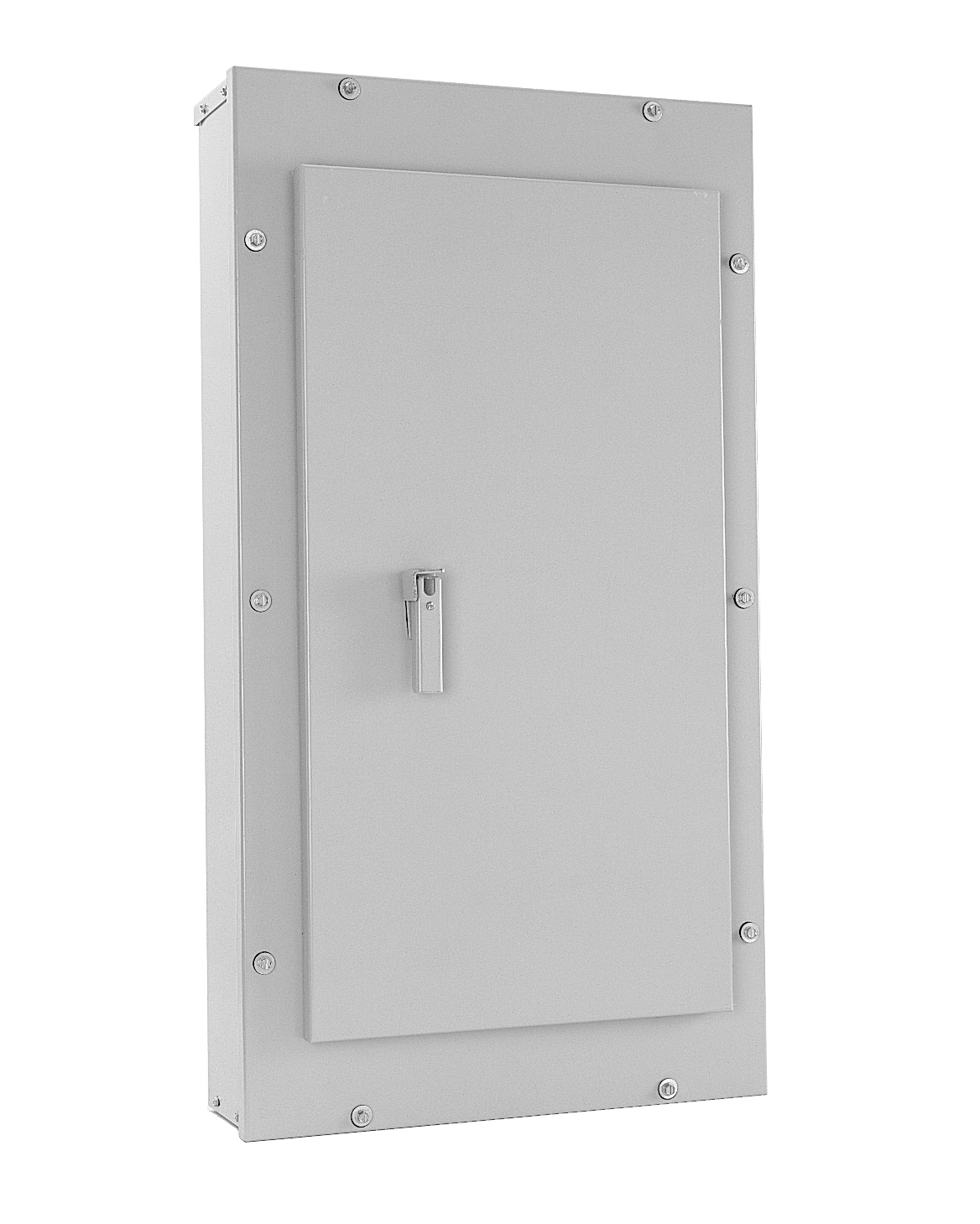 GE,AB763,General Electric AB763 Panel Board Box, Enclosure: NEMA 3R/12, Size: 76.500 IN Height X 20.000 IN Width X 5.810 IN Depth, Consist of: Blank Endwall