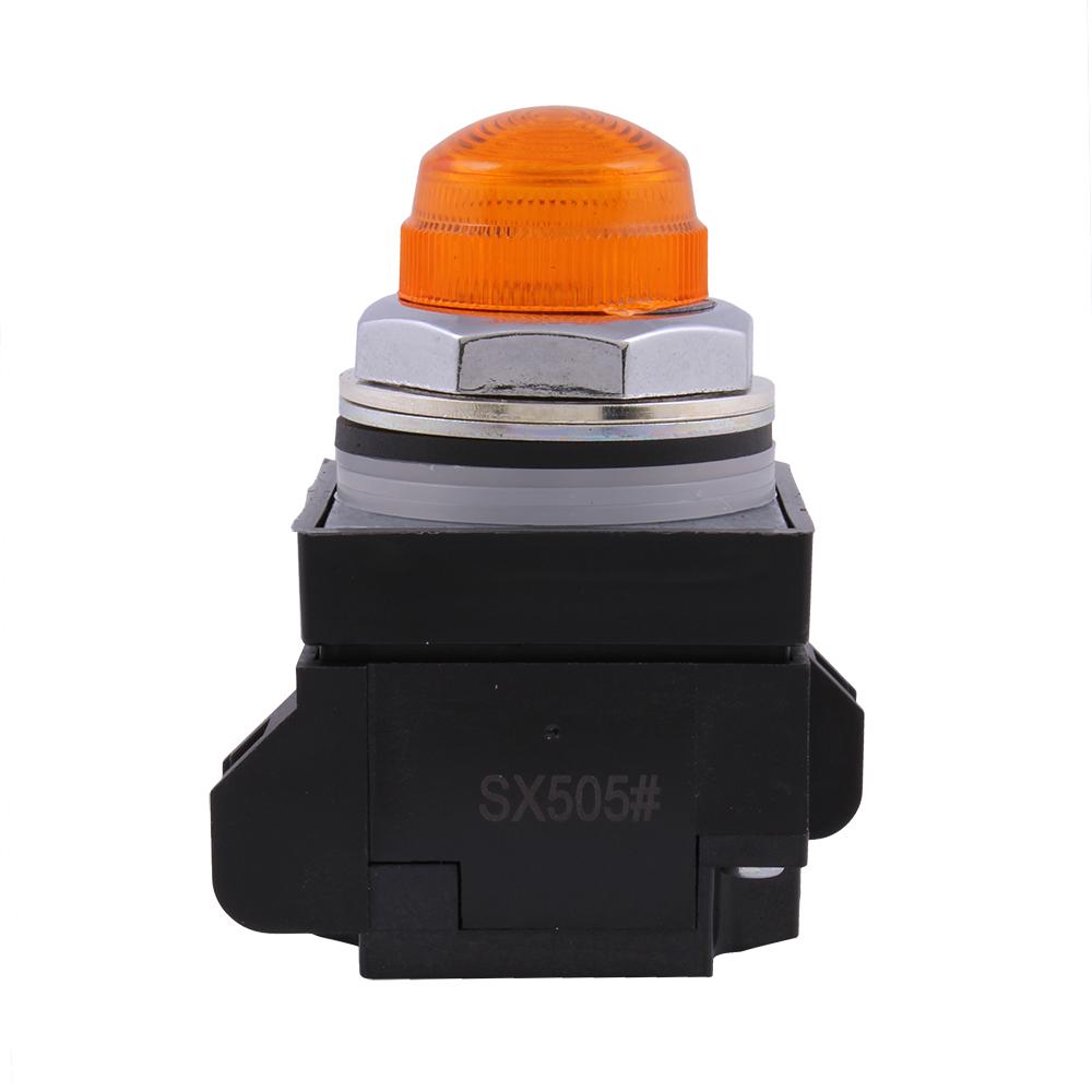 GE Industrial Solutions CR104PLG88M 24 VAC/VDC Supply 24 Volt LED Lamp Full Voltage Amber Standard Indicating Light