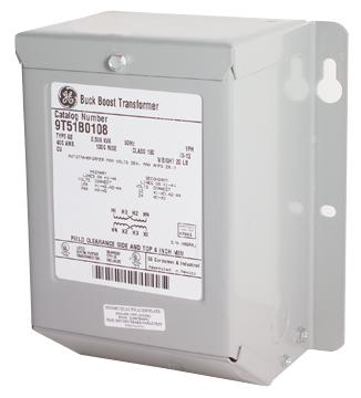 GE Energy 9T51B0007 0.2 kVa 240 x 480 VAC Input 120/240 VAC Output 1-Phase Stainless Steel Encapsulated Dry Type Transformer