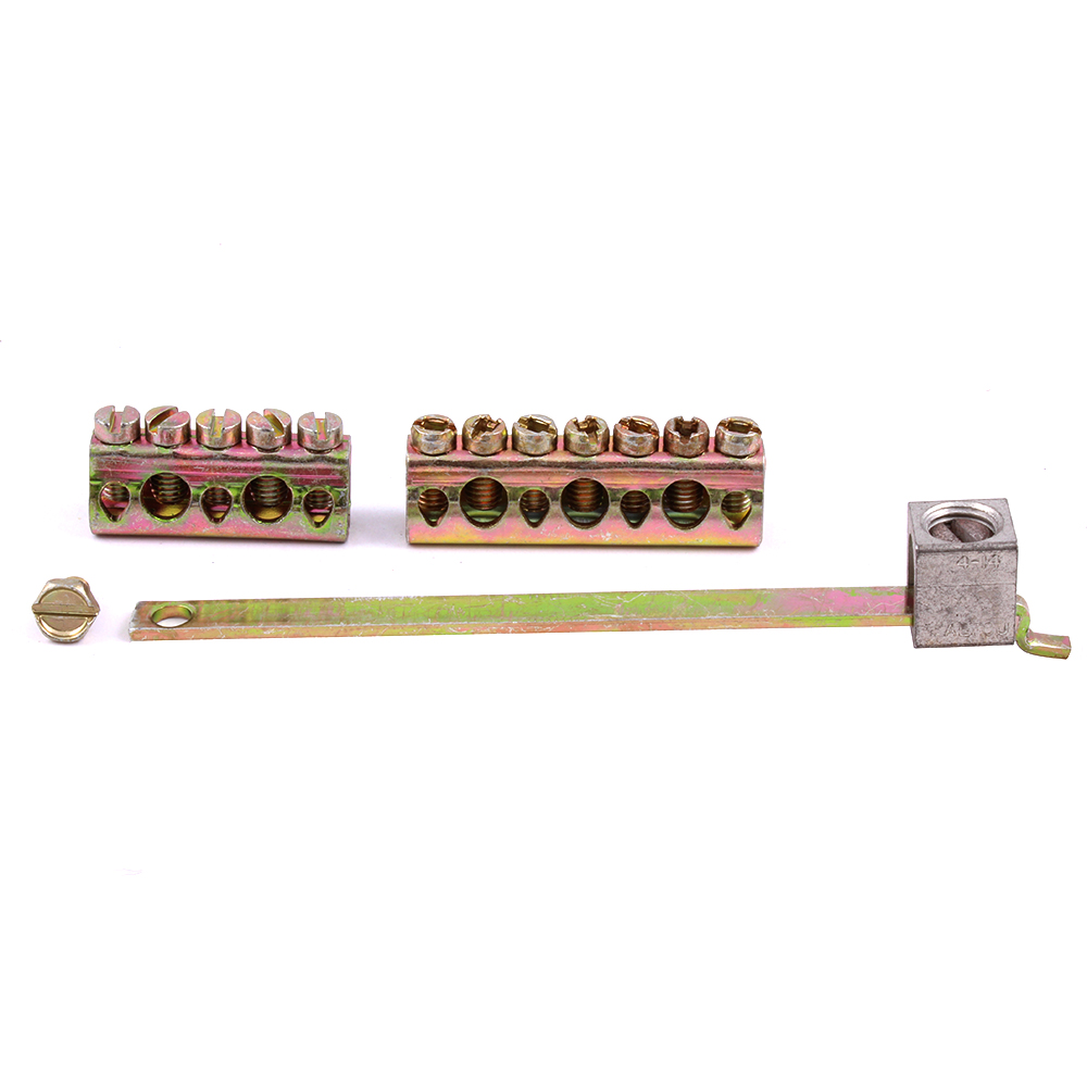 GE Industrial Solutions TGL8 14 to 4 AWG Copper 6 to 4 AWG Aluminum Equipment Ground Bar Kit