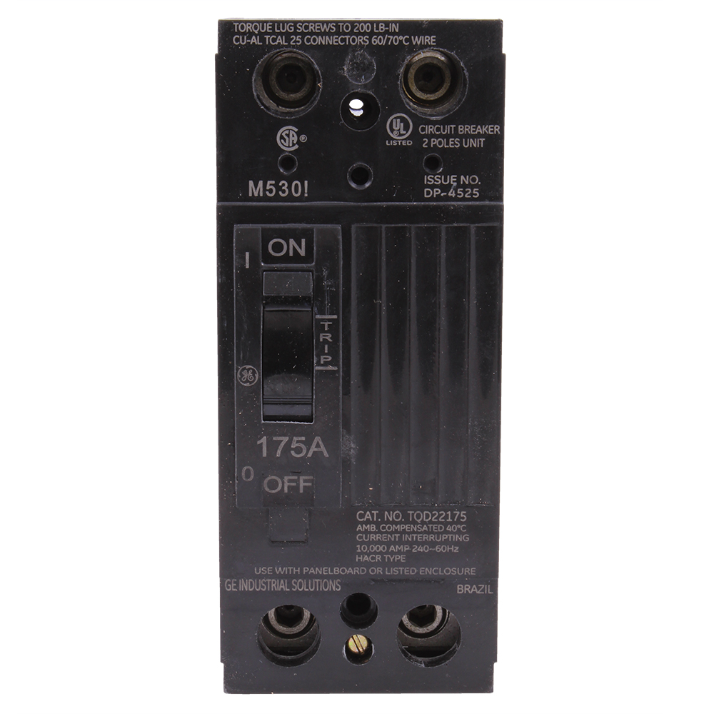 GE Industrial Solutions TQD22175WL 2-Pole 240 Volt 175 Amp Circuit Breaker with Lugs