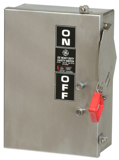 GE Industrial Solutions TH3362SS 3-Pole 60 Amp 600 Volt NEMA 4/4X Heavy Duty Fusible Safety Switch