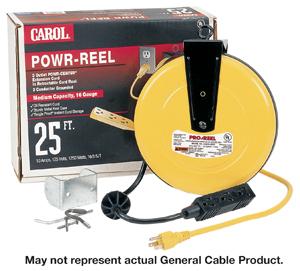 Carol 44623.61.05 Powr-Reel 25 Ft Extension Cord