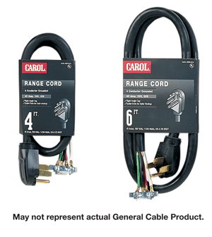 Carol 05606.63.10 6 ft. 3 Conductor Dryer Cord, Type SRDT, 8-6 AWG