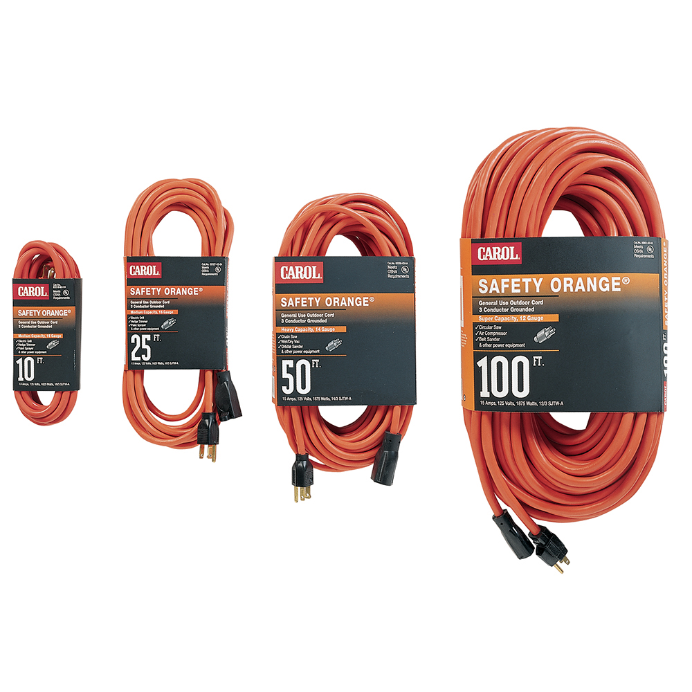 EXT25FT143SJTOE 03328 EXTENSION CORD 14AWG 3C 125V ORANGE 25FOOT SJTW 03328.63.04 REF QTE # 2947024-00,