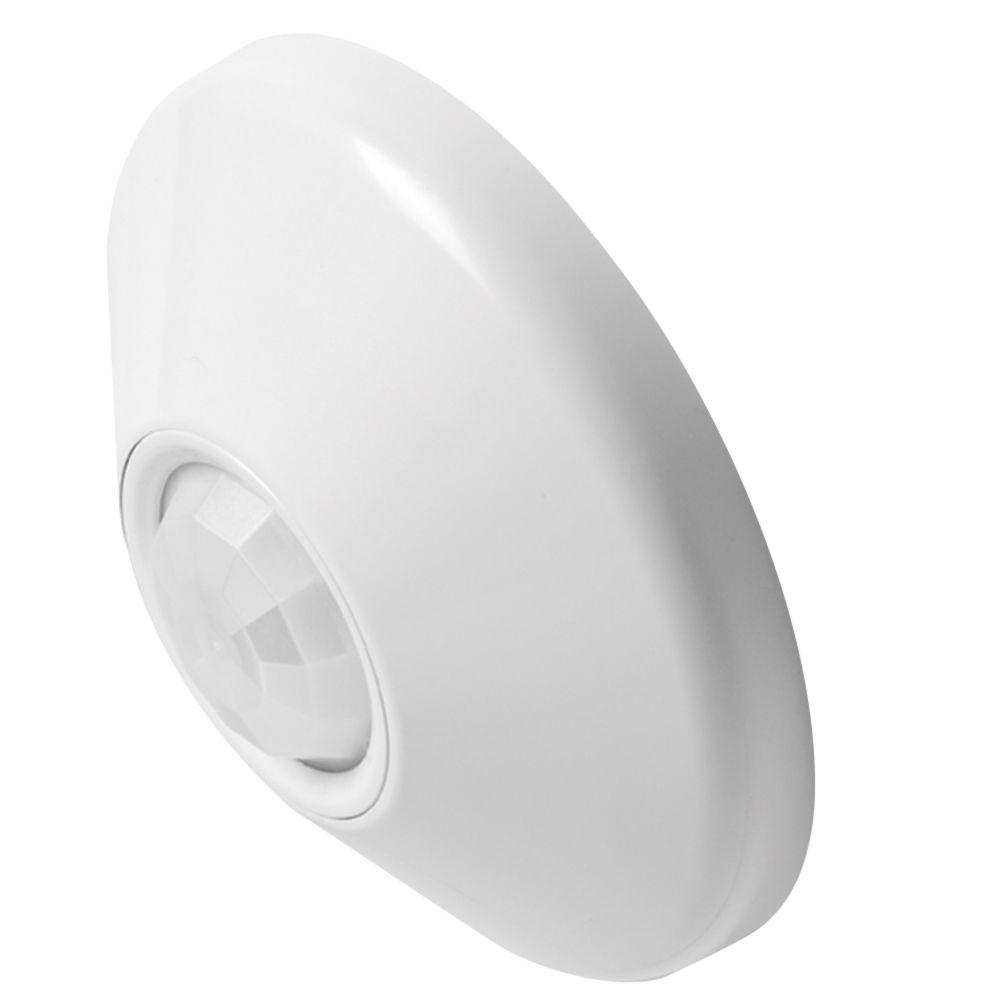 Sensor Switch CMR 10 120/277 VAC 360 Degrees Large Motion White 1-Gang Ceiling Mount Sensor