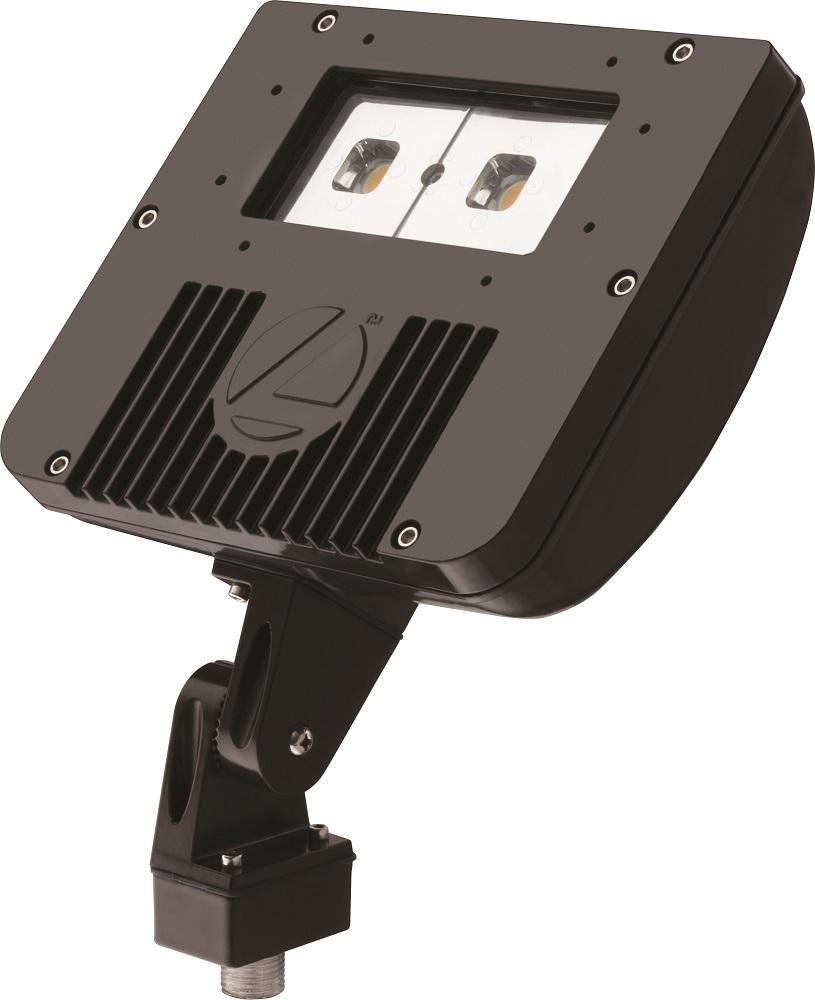 LITH DSXF1LED250KM4 D-SERIES 41W 5000K LED FLOOD FIXTURE, 120-277V, DARK BRONZE