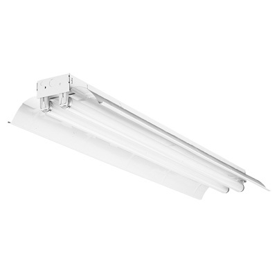 Lithonia Lighting,TL232 MV,Lithonia Lighting® TL232 MV Linear Strip Light, 4 Fluorescent Lamp, 120/277 VAC, Baked White Enamel Housing