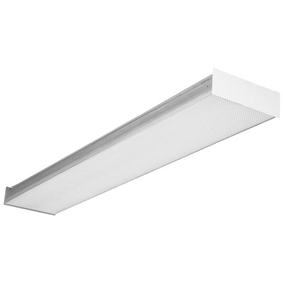 Lithonia Lighting,SB-2-32-120-RE,Lithonia Lighting® SB Square Basket Wraparound, 2 T8 Lamp, 120 VAC, High Gloss Baked White Enamel Housing