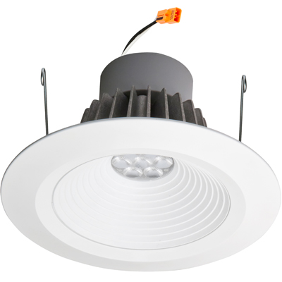 Lithonia Lighting® L7XRLED T24 U Round Downlight Housing, LED Lamp, 120 VAC, 6-7/8 in Ceiling Opening, Aluminum Housing