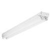 Lithonia Lighting,TC232 MV,Lithonia Lighting® TC232 MV Heavy Duty Strip Light, 4 Fluorescent Lamp, 120/277 VAC, Baked White Enamel Housing