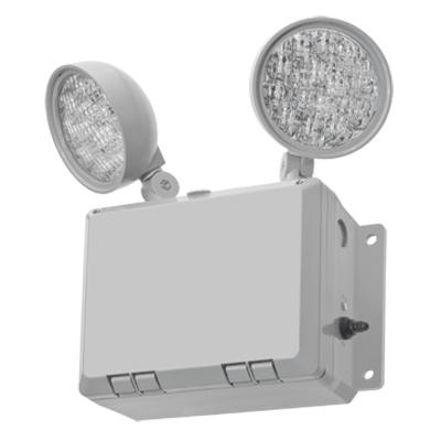 Lithonia Lighting,WLTU LED,Lithonia Lighting® WLTU LED Emergency Light Fixture, 1.9 W LED Static Lamp, 9.6 VAC, Thermoplastic