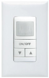 Sensory Switch WSX D WH 120/277 VAC 1/4 Hp White 1-Gang Wall Switch Occupancy Sensor