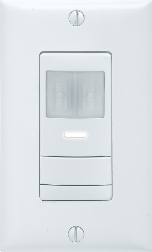 LITH WSXWH OCCUPANCY SENSOR Wall Switch Sensor - Passive Infrared (PIR): w/ Universal Neutral/Ground Wiring, White