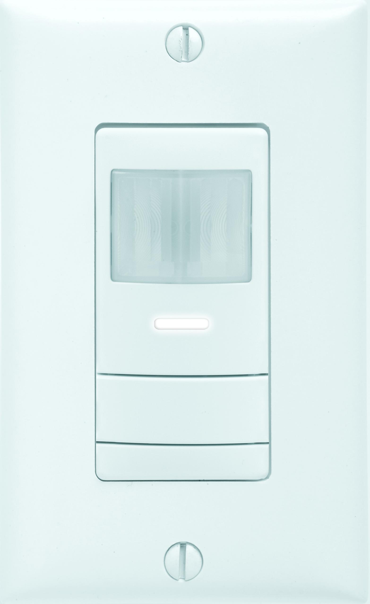 Sensor Switch,WSX PDT WH,Lithonia Lighting® Sensor Switch® WSX Decorator Style Single Relay Wall Switch Occupancy Sensor, 120/277 VAC, PDT Sensor