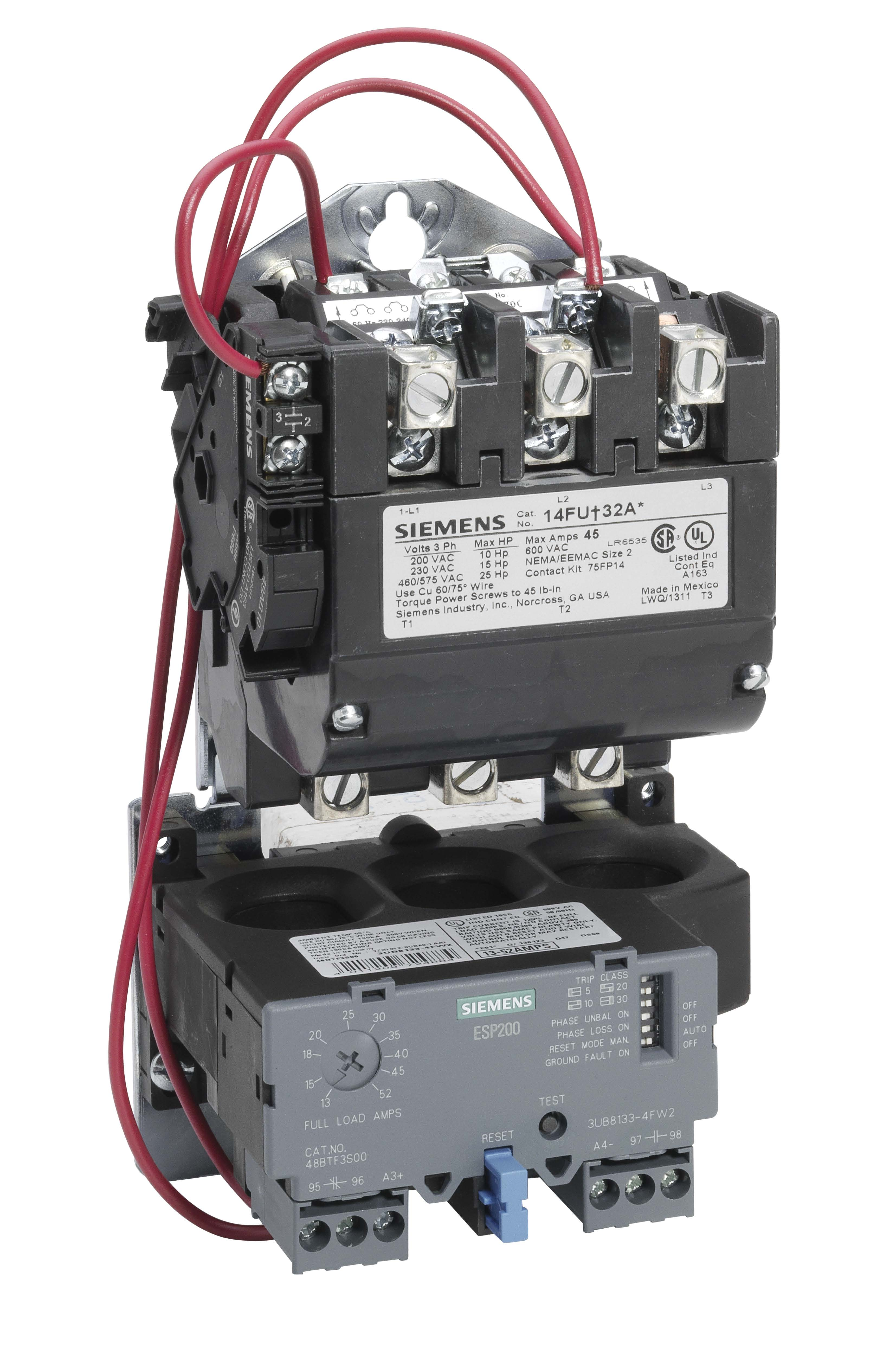 Siemens 14fuf32aa for Solid state motor starter