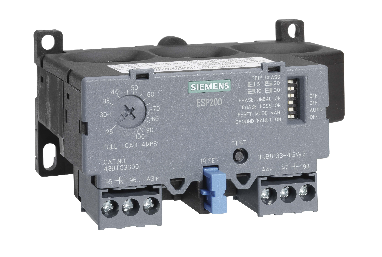 SIE 3UB88334GW2 SIE OVERLOAD RELAY 25-100 AMPS SINGLE PHASE