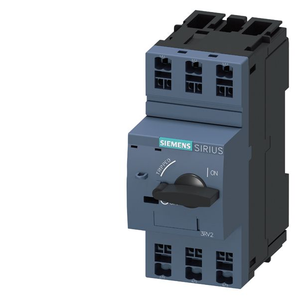 SIRIUS 3RV23110GC20 Motor Protection Circuit Breaker, 690 VAC, 0.63 A, 100 kA Interrupt, 3 Poles, Magnetic Trip