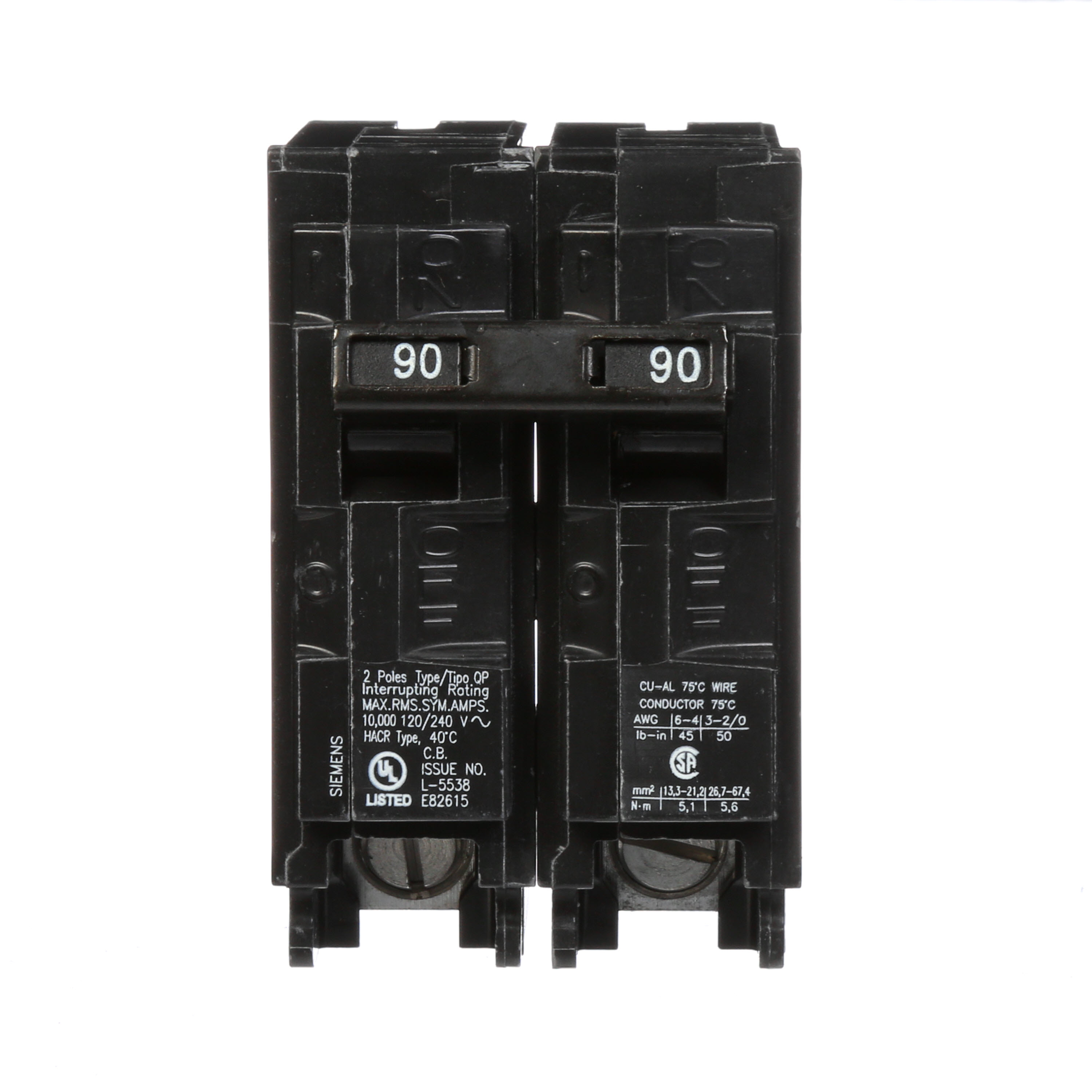 Siemens Q290 Molded Case Breakers - Crescent Electric Supply Company