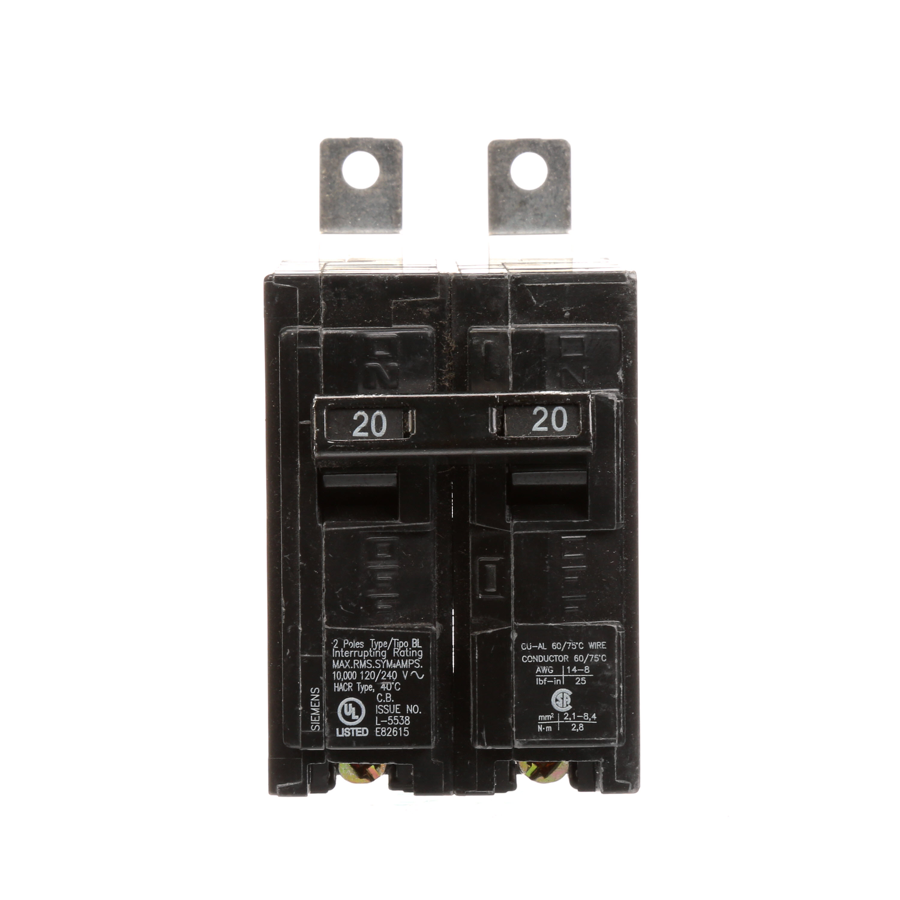 SIE B220 2P20A 120/240V BOLT-ON CB