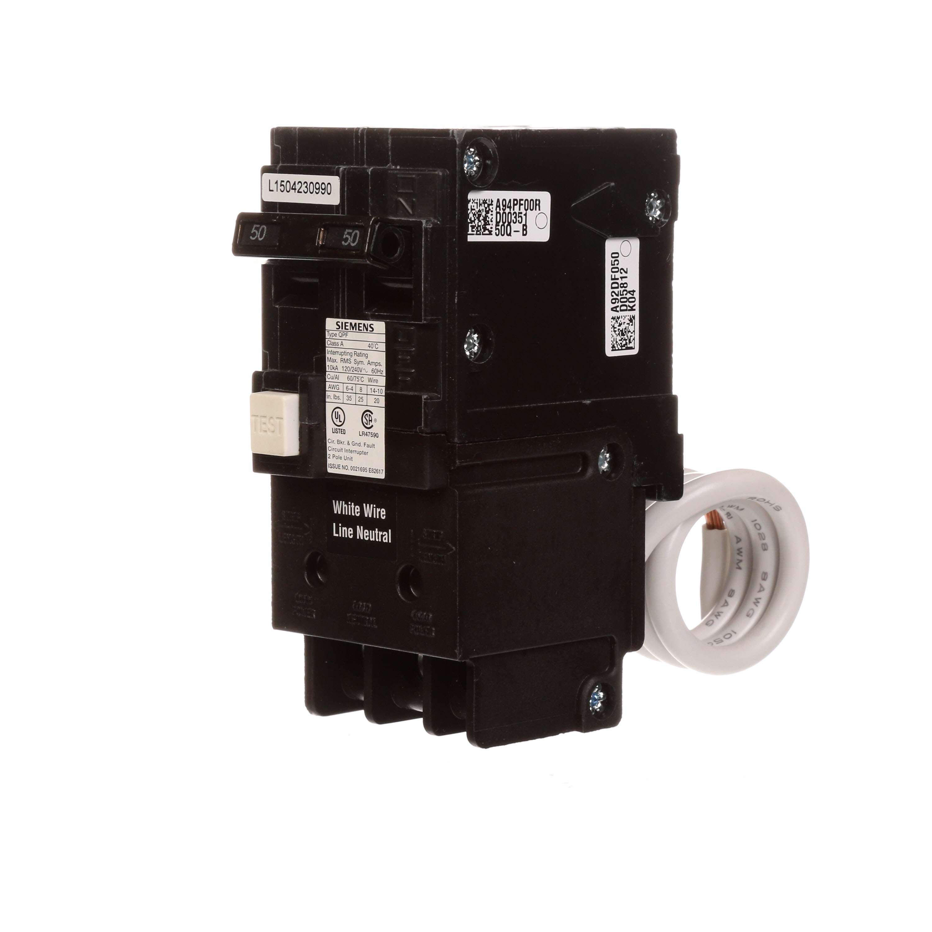 Distribution Equipment Circuit Breakers Ground Arc Fault Breaker How Does A Gfci Work Sie Qf250 2p 50a 120 240v Gfi Cb