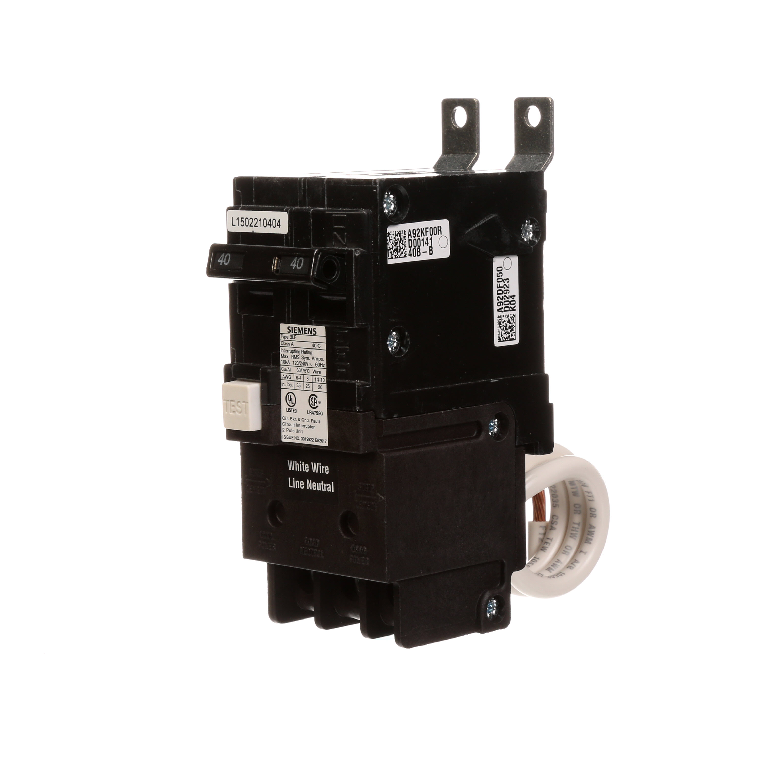 Distribution Equipment Circuit Breakers Ground Arc Fault Breaker Interrupters Afcis Sie Bf240 Grd Cir