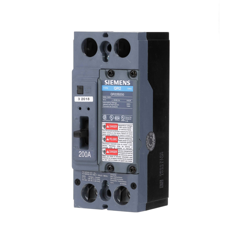 Siemens Ca HQR22B200H QR MCCB,100kA