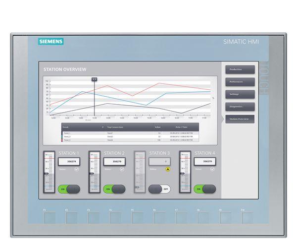 SIA 6AV21232MB030AX0 SIMATIC HMI KTP1200 BASIC KEY TP12