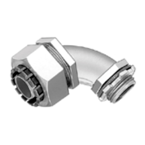 Bridgeport 472-LT2 1 in. 90 Degree Liquid Tight Conduit Connector, Die Cast Zinc