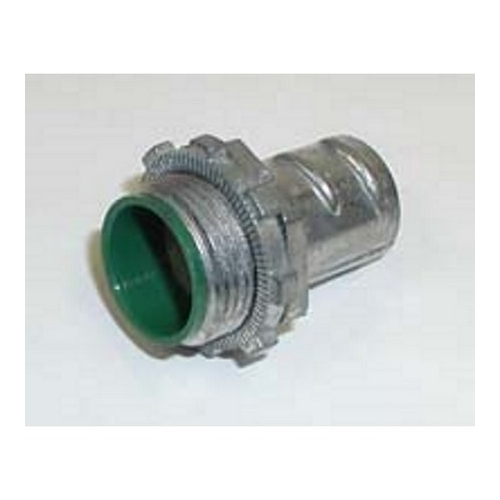 Bridgeport 520-DCI2 1/2 in. Flexible Metal Conduit Screw-In Connectors, With Insulated Throat
