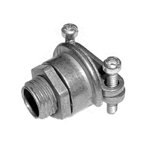 """Bridgeport 563-DC2 1/4"""" Multi-Purpose 2-screw Strap Connector, FMC/AC/MC/NM, Die Cast"""