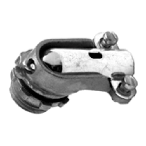 Bridgeport 804-DCI2 1/2 in. Zinc Die Cast 90 Degree FMC Connectors, With Insulated Throat